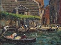 gondola e portale a venezia by erma zago