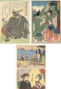 chu tenjyuku hakurai dai zou no zu (12 works) by utagawa toyohiro