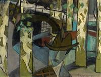 mann in platanenallee by alexander camaro