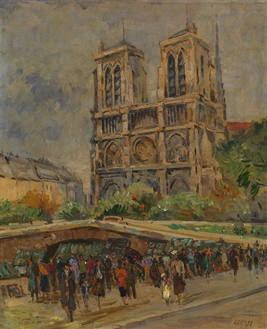 view of notre dame de paris by alexis paul arapov
