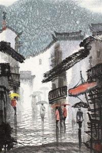 古城雨景 镜片 设色纸本 by xu xi