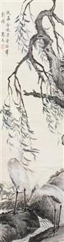花鸟 立轴 设色纸本 by wen qiqiu