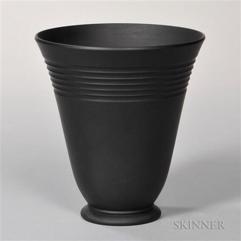 Wedgwood Keith Murray Design Black Basalt Vase By Wedgwood On Artnet