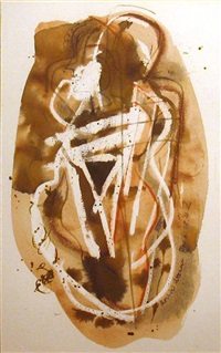 figures (+ standing nude; 2 works) by konrad kramer