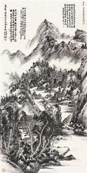 湖山幽居图 by xu bangda