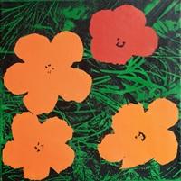 study for warhol flowers by sturtevant