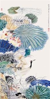 鹤荷竟秀 by mo xiaosong