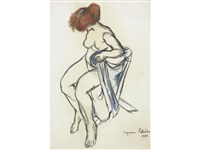 femme assise by suzanne valadon