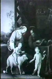 die heilige familie mit dem johannesknaben by johann jacob metzler