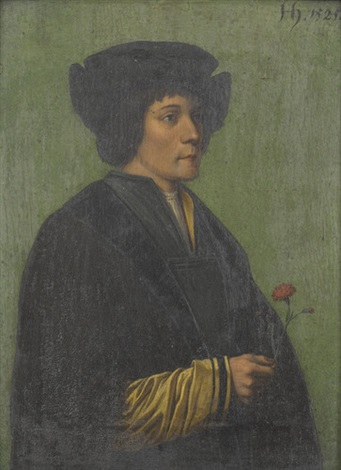 jüngling mit nelke by hans holbein the younger