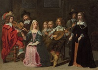 a musical concert by mathieu (le chevalier) le nain