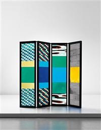 rare four-panel screen by venini co.