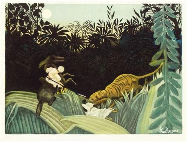 la chasse au tigre by jacques villon by henri rousseau