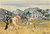 paysage a saint-remy de provence by yves brayer