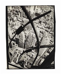 city arabesque, manhattan, 1936 by berenice abbott