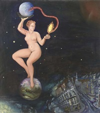 venus and the revolution - outer space by suzanne treister