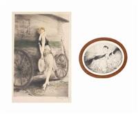 mignon and la dame aux camellias (2 works) by louis icart