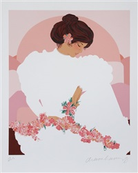 woman with flowers by diana hanson young