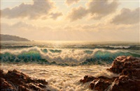 sunrise seascape by josef m. arentz