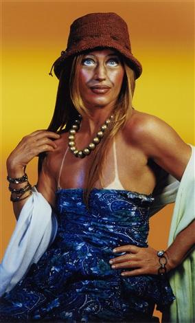 untitled self portrait with sundress by cindy sherman