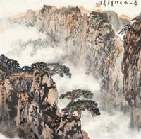 泰山南天门 镜心 设色纸本 by xu jianming