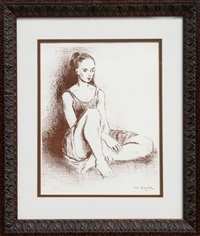 ballet dancer by moses soyer
