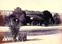 nice, quai massena vers 1865 by charles nègre