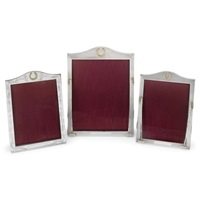 elizabeth ii photograph frames (set of 3) by asprey & garrard