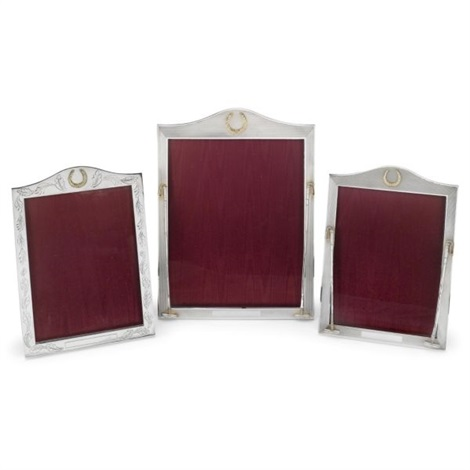 elizabeth ii photograph frames set of 3 by asprey garrard