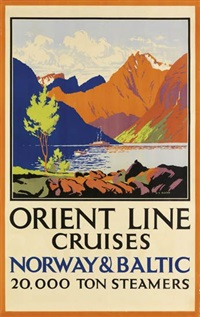 orient line cruises - norway and baltic 20,000 ton steamers by herbert kerr rooke