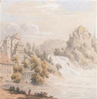 view of the rhine by william frome smallwood