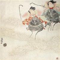 马球图 (figure) by deng jiade