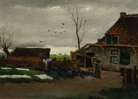 boerderij met bleekveld by j. c. (joannes cornelis) roelandse