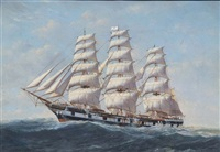 portrait of the steel hulled full rigged ship