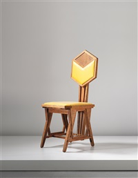 peacock chair, designed for the imperial hotel, tokyo by frank lloyd wright