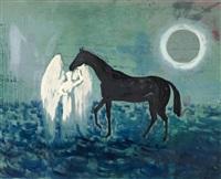 engel ein pferd führend by edgar ende
