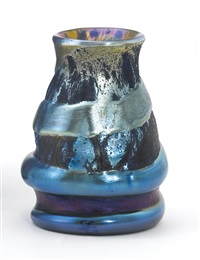 rare lava vase by louis comfort tiffany