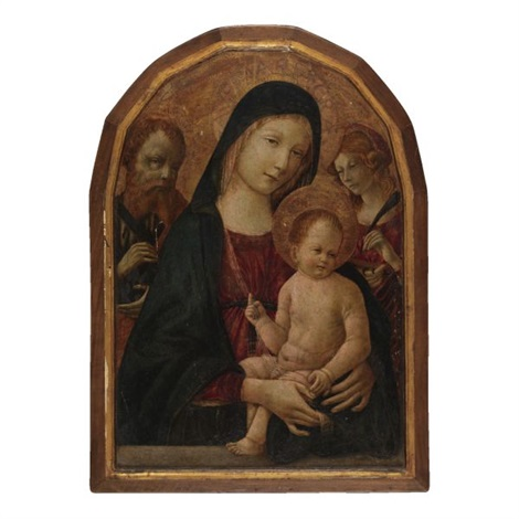 madonna col bambino santa caterina e san bartolomeo by giacomo pacchiarotti