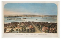 east view of philadelphia, pennsylva. and part of camden new jersey by augustus kollner