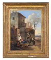 suonatore ambulante nella campagna romana by johannes lingelbach