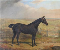 """peter"", a hunter in a landscape by edward lloyd"