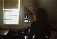 self-portrait in the mirror, the lodge by nan goldin