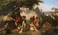 conciliabule au campement by pierre-francois lehoux