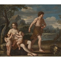 adam and eve with cain and abel by giacinto gimignani