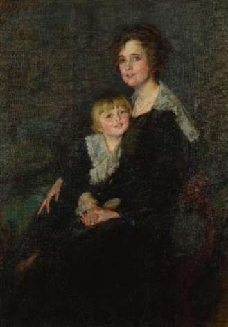 portrait of molly bangs armstrong and her son john by lydia field emmet