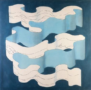 sin titulo espirales azul by patricio cabrera