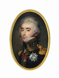 étienne-marie-antoine champion de nansouty (1768-1815), comte de nansouty, in black coat with gold embroidered oak leaf collar and gold epaulettes, wearing the red moiré sash by jean urbain guerin