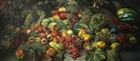 still life with fruit by georgy gabashvili