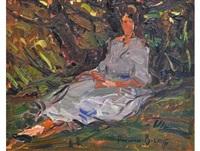 sitting in the shade by adriaan hendrik boshoff
