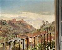 udsigt fra alhambra til albaicin by carl christian andersen